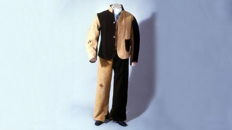 A convict uniform, tattered, but preserved