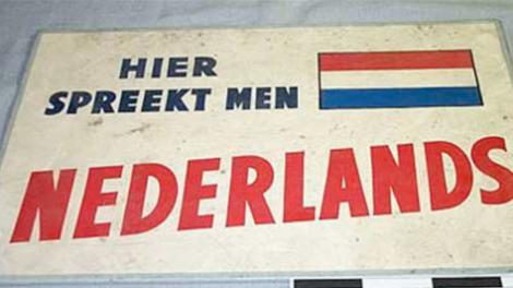 Signage to instruct immigrants of migration procedures