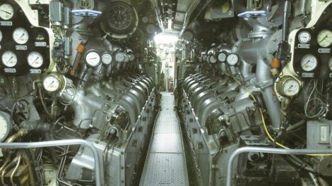 The interior of the submarine HMAS Ovens