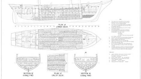 Technical drawings of the vessel James Matthews