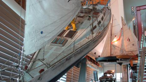 The Parry Endeavour, on display in the WA Maritime Museum