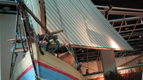 The Sama Biasa vessel on display at the WA Maritime Museum