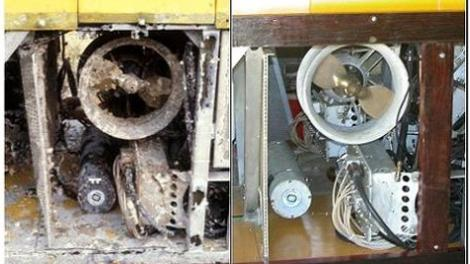 TROV thruster before and after conservation and restoration by Alex Kilpa