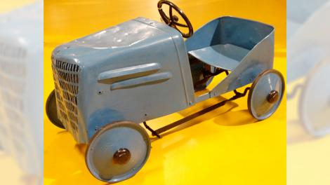 A steel toy car