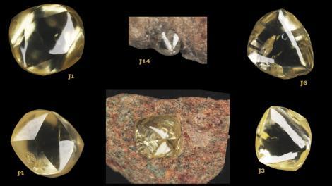 A series of yellow diamonds