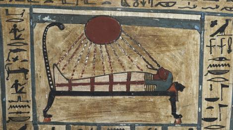 An Ancient Egyptian scroll depicting a scene from the afterlife