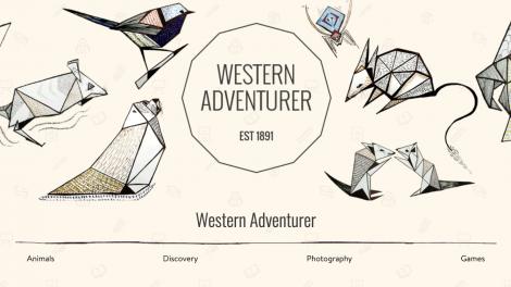 Western Adventurer landing page