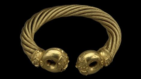 A gold torc of twisted gold metals