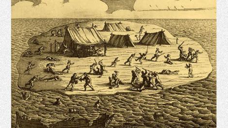 Woodcut of Batavia shipwreck massacre