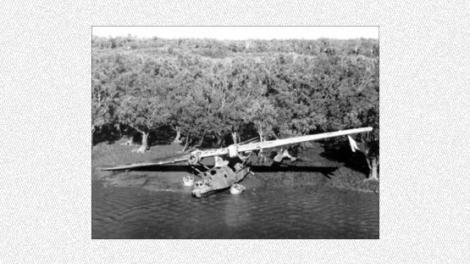 A world war two water plane landing