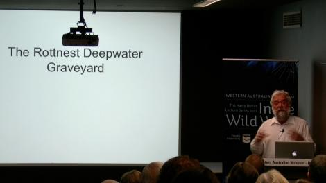 Jeremy Green presents his lecture to an audience