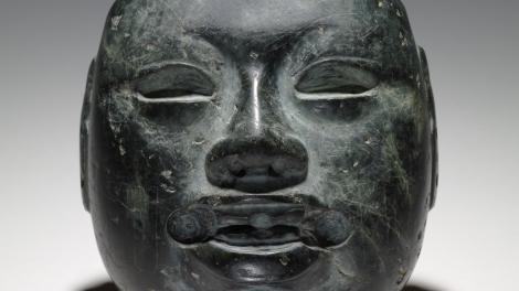 Olmec stone mask, 900-400 BCE, Mexico.