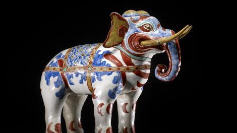 Kakiemon porcelain elephant