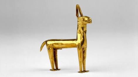 Inca gold llama, 1400-1550 CE, Peru