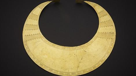 Gold Lunula, 2400-2000 BCE, Ireland.