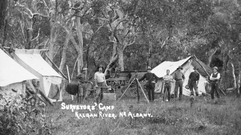 Surveyor's Camp on the Kalgan River, 1910