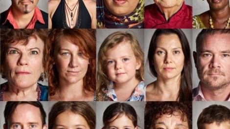 """""""A collage of portraits of humans ranging in age, ethnicity, and gender."""""""
