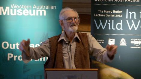 Dr Harry Butler presenting a lecture
