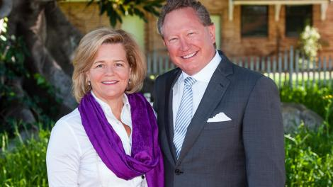 Nicola and Andrew Forrest standing side-by-side