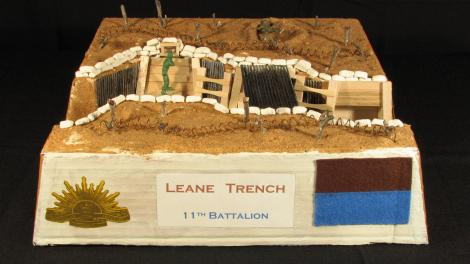 Overall winner Achaius Hall's three-dimensional model of Leane's Trench