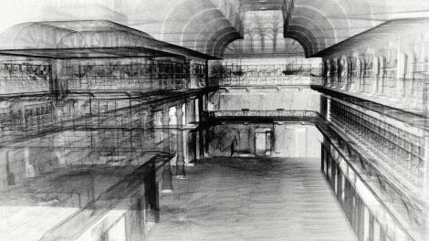 Zebedee render of Hackett Hall gallery