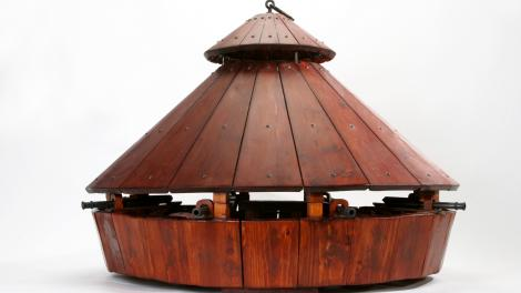 Image of model of Leonardo da Vinci's Carro Armato (Tank)