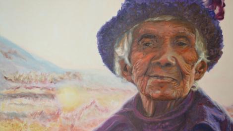 Painting of Nana Purple