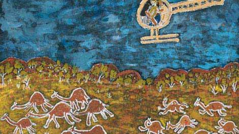 Camel Cull, 2012, Eunice Yunurupa Porter, acrylic on canvas, 760 x 1010 mm
