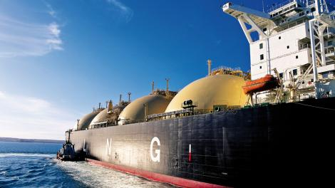 A large LNG tanker on the ocean