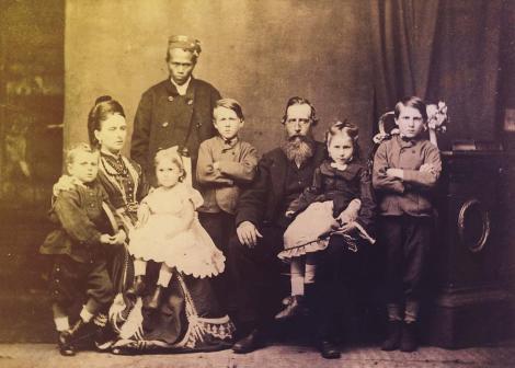 Broadhurst family in a family portrait