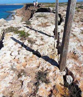 Shoreline at Cape Inscription