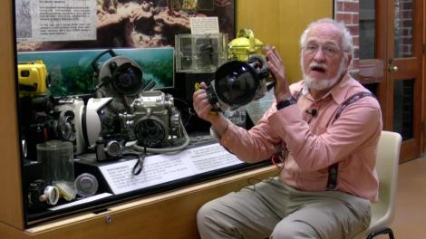 Patrick Baker with a multiple underwater cameras