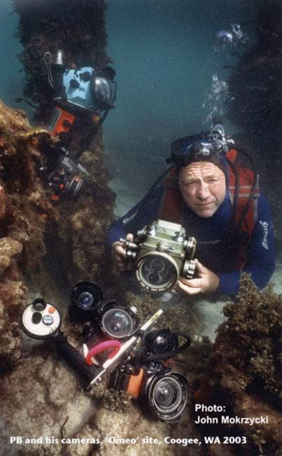 PB and his cameras, 'Omeo' site, Coogee, WA 2003