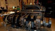 A partially restored steam engine