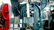 Image of a large blue machine