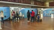 Visitors at the exhibition