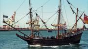 Replica Duyfken in Fremantle harbour
