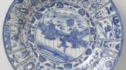 Saucer, c. 1635 – 1645: Chinese Kraak porcelain, so-named for the Portuguese ships or carracks that carried it.