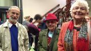 Three museum attendees