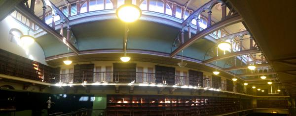 Panoramic picture of Hackett Hall