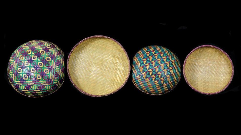 4 circular baskets in a row Image copyright WA Museum