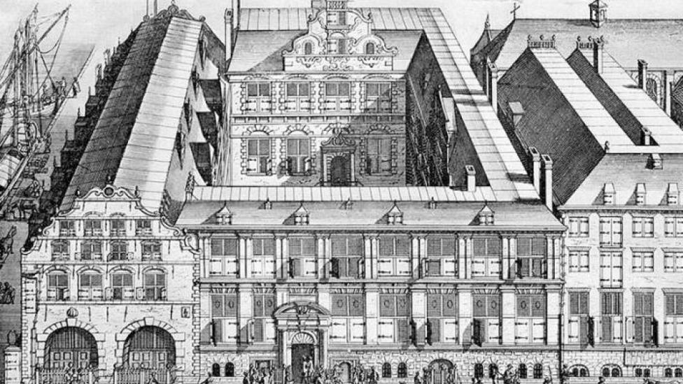 East India House - the Amsterdam headquarters of the VOC, 17th century.