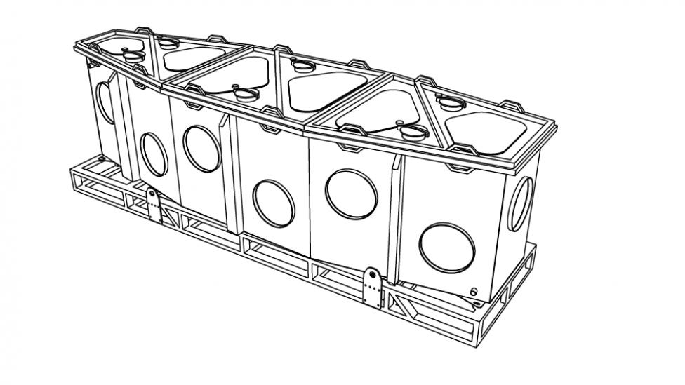 Outline of the Megamouth specimen tank