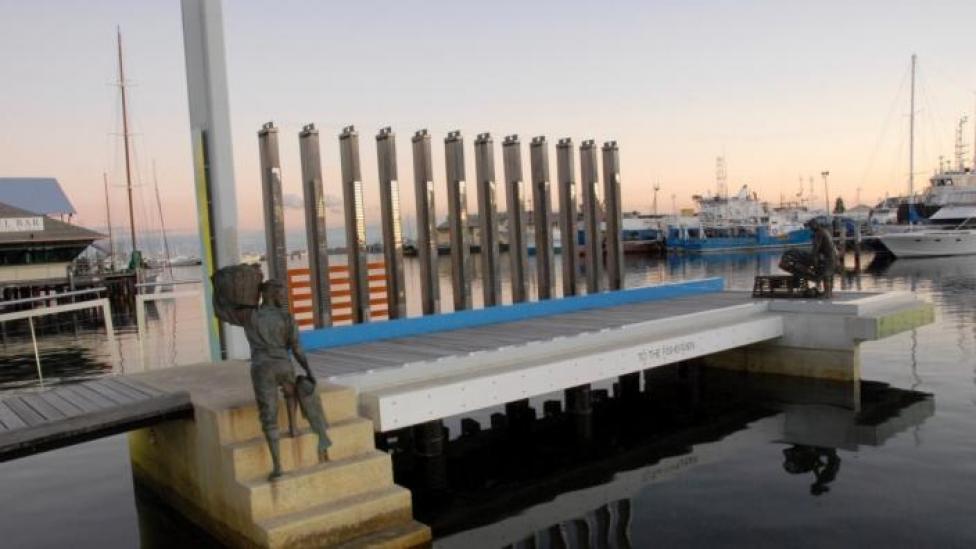 Fishermans Memorial, Fishing Boat Harbour, Fremantle