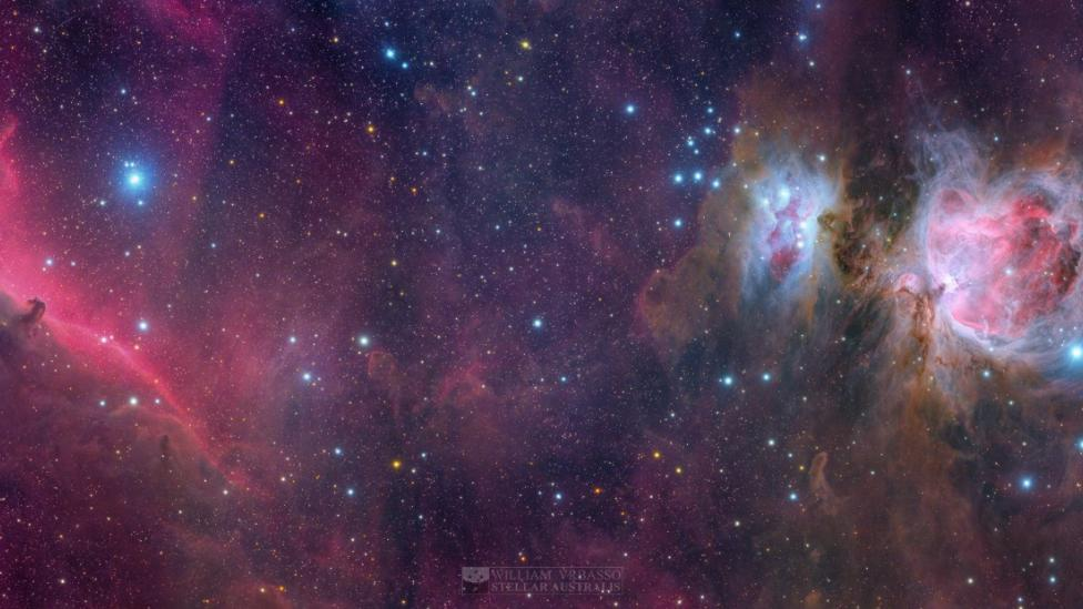A vibrantly coloured photograph of space
