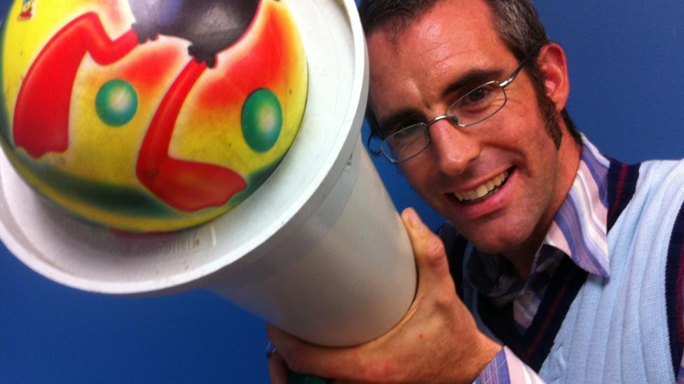 Dr Graham Walker with a Ballistics cannon