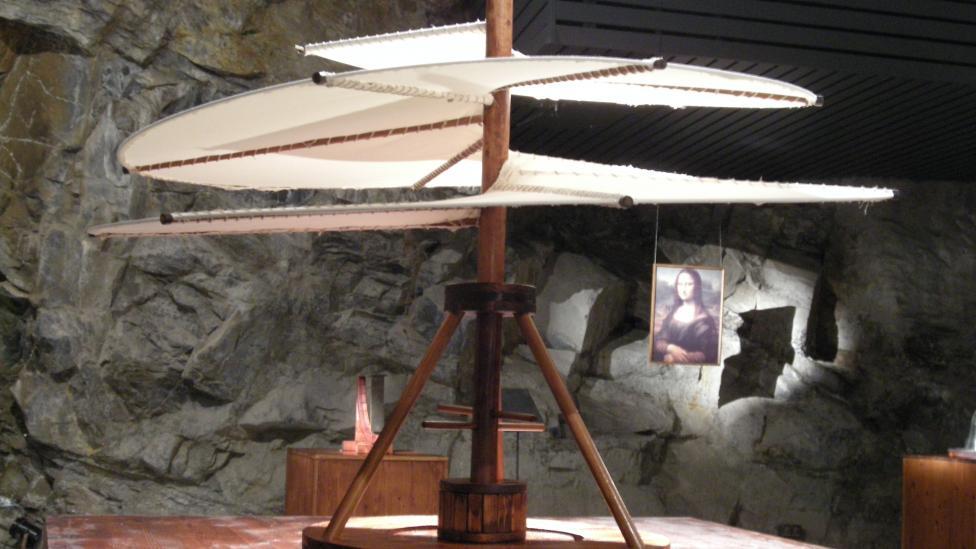 Artisan's recreation of Leonardo da Vinci's Air screw