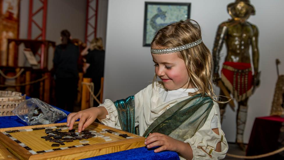 The Ancient Rome exhibition allows visitors to immerse themselves in the everyday life of Roman citizens through clothes, jewellery, art and entertainment.