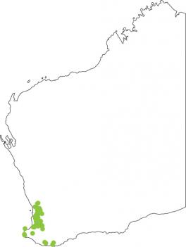 Distribution map for Whooping Frog