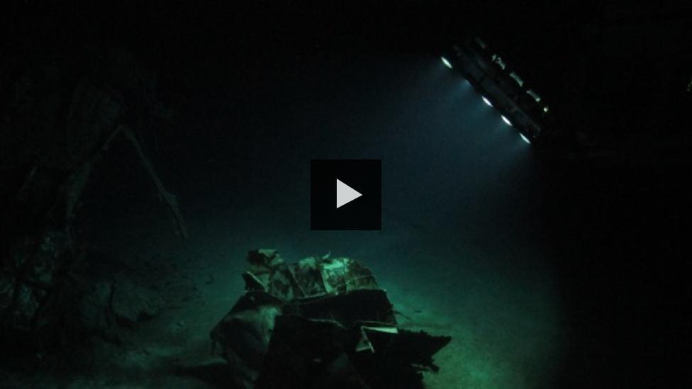ROV scanning the HMAS Sydney (II) wreck